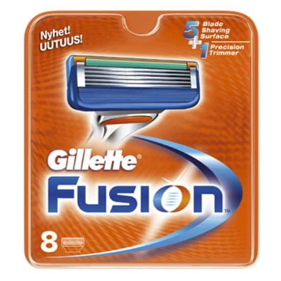 Køb Gillette Fusion Barberblade (8-pak)